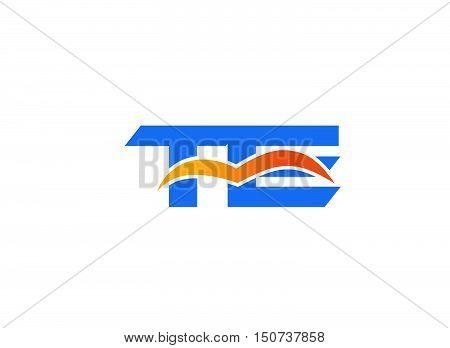 Te logo illustration design vector template 1