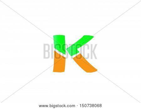 Letter K logo icon design template elements. Vector color sign