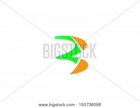 Number logo design.Number three logo.Logo 3 vector template