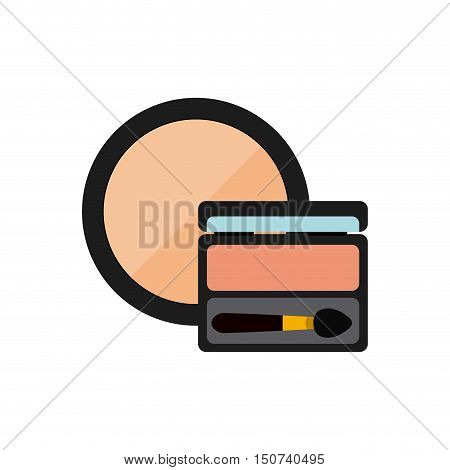 female make up product isolated icon vector illustration design