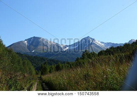 nature, mountains, mountain landscape, mountain, mountain landscape, peaks, ridges, Kazakhstan, the peak of Voroshilov