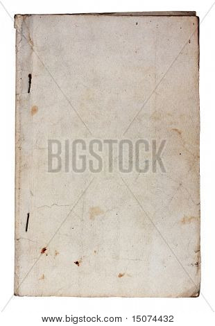 old softcover book isolated on white background with clipping path