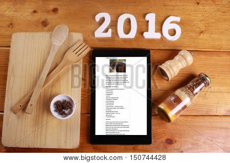 Cooking And Concept Isolated On Wooden Background