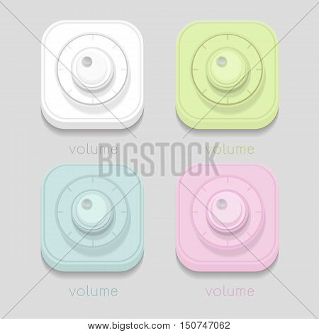 vector volume icon Colorful White blue green pink on white background