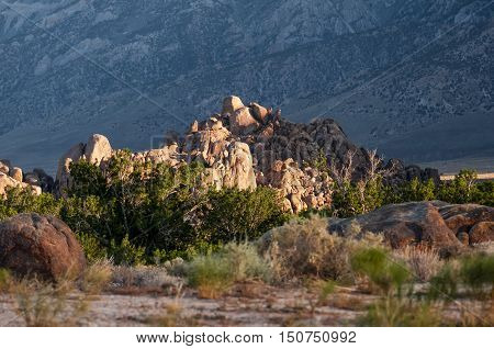 Alabama Hills near Lone Pine CA, movie road