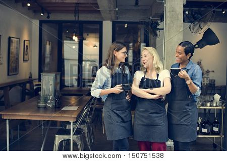Cafe Friends Coffee Break Cheerful Relaxation Concept
