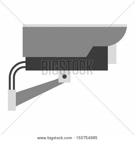 Street security camera privacy protection system equipment, watching security camera record control. Surveillance security camera. Street camera home protection system technology vector illustration.