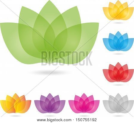 Logo, leaves, flower, colored, naturopath logo, nature
