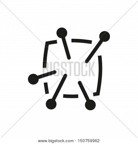 Pincushion with pins icon on white background Created For Mobile Infographics Web Decor Print Products Applications. Icon isolated. Vector illustration