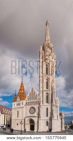 Matthias Church is a Roman Catholic church located in Budapest Hungary in front of the Fisherman's Bastion at the heart of Buda's Castle District