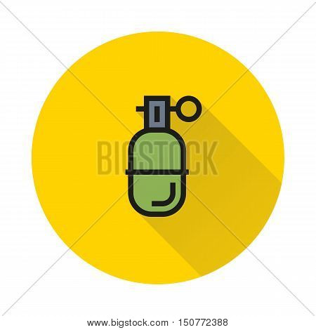 Abstract grenade in line style on white background Created For Mobile Web Decor Print Products Applications. Icon isolated. Vector illustration
