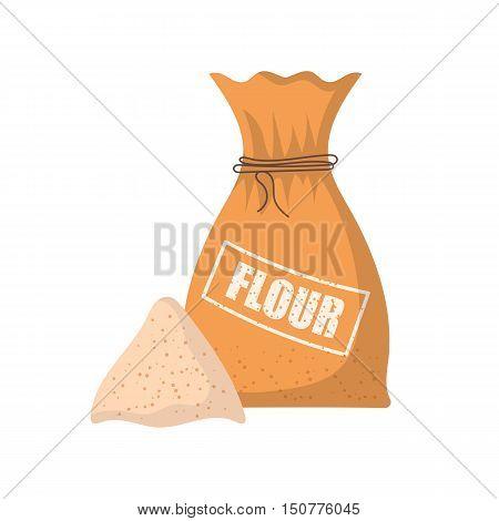 Vector Cartoon Flour Bag