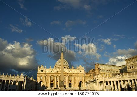 The Basilica Of St. Peter At Dawn