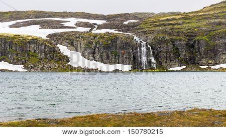 Landscape around Aurlandsfjellet National Tourist Route in Norway