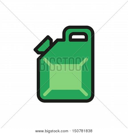 Jerrycan icon on white background Created For Mobile Web Decor Print Products Applications. Icon isolated. Vector illustration