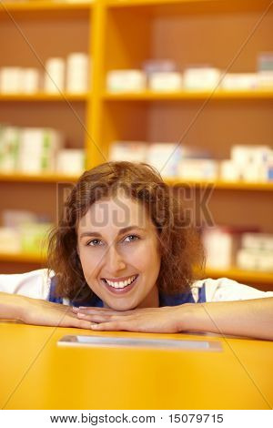 Pharmacist At Counter