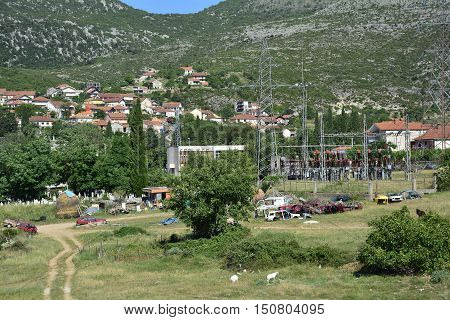 A surburban area of the southern Bosnian town of Trebinje just outside the city centre.