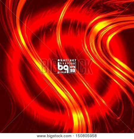 Vector illustration fire space glitch background flash abstract galaxy sun