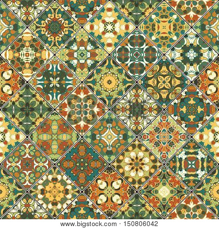 Orange And Green Abstract Patterns