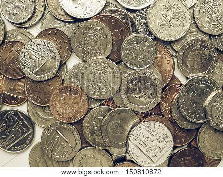 Vintage Pound Coins