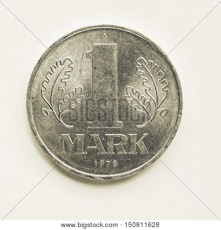 Vintage One Mark From Ddr