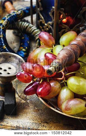 Hookah And Grapes