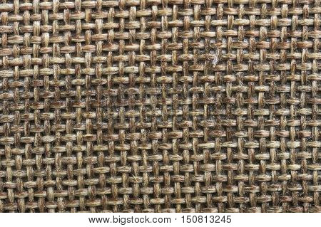 old coarse cloth texture from close range