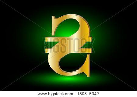 Ukrainian Hryvnia sign  icon , hryvnia currency symbol