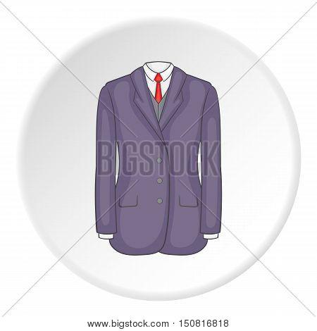 Men suit icon. Cartoon illustration of men suit vector icon for web