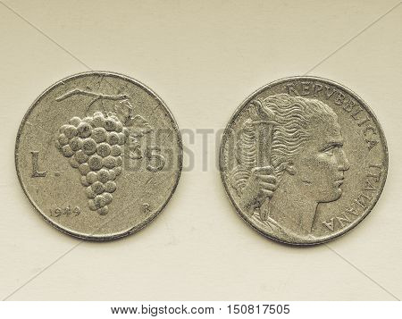 Vintage Old Italian Coins
