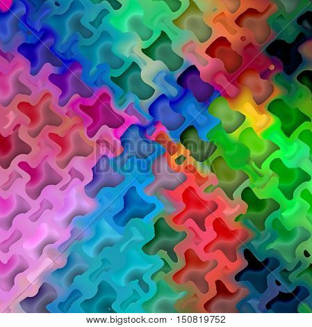Abstract coloring background of the spectrum gradient with visual mosaic,octagon and wave effects.