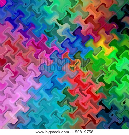 Abstract coloring background of the spectrum gradient with visual mosaic,octagon and wave effects