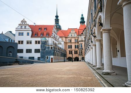 Stable yard (Stallhof) in the Royal Palace in Dresden Germany