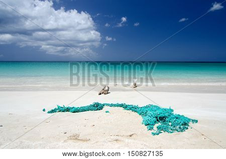 Abandoned Fishnet At Ffryes Beach - 2