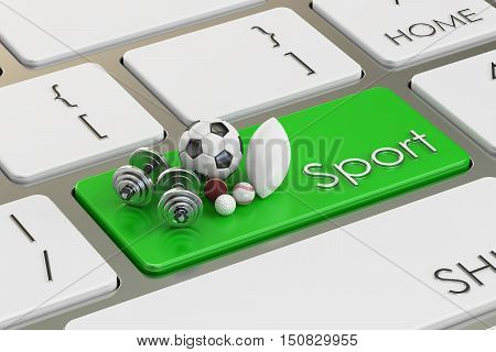 sport button key on the keyboard. 3D rendering