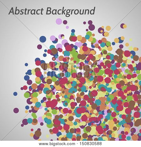 Vector abstract multicolor background with irregular circles.