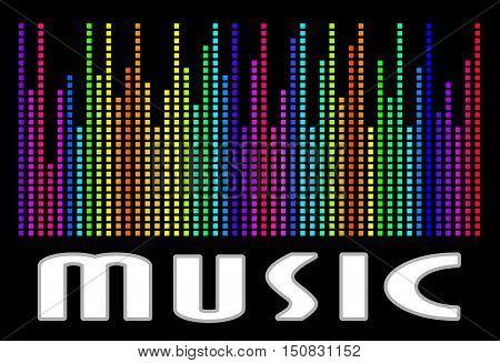 Colorful music spectrum. Music logo . eps 10 vector illustration