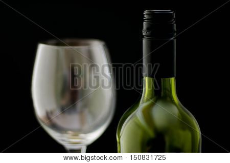 Bottle Of Wine And A Wine Glass