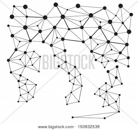 Abstract point of triangle. Futuristic background with triangles . eps 10 vector illustration