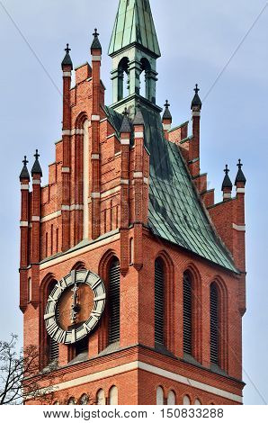 Church of the Holy family neo-Gothic beginning of the 20th century. Kaliningrad until 1946 Koenigsberg Russia