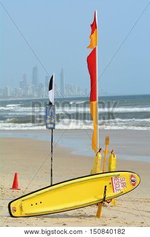Australian Lifeguards In Gold Coast Queensland Australia
