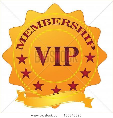 Vip membership stamp isolated on white background