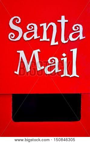 Santa Claus Mail Box On Christmas (xmas) Holiday