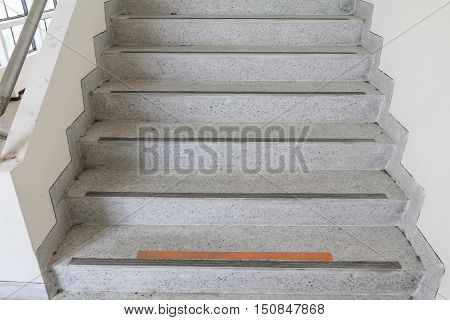 Close up way Up the Stairs terrazzo  floor marble