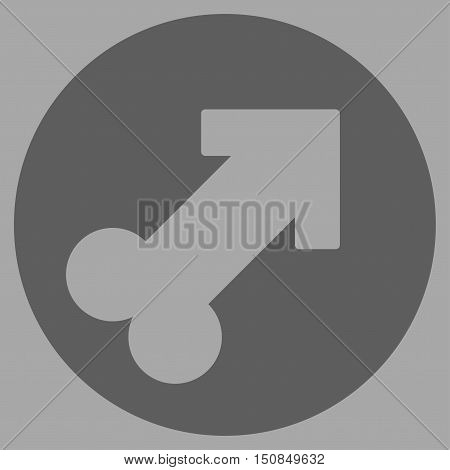 Erection vector icon. Style is flat symbol dark gray color rounded angles silver background.