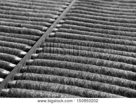 Used Dirty Air Filter of Car Close up