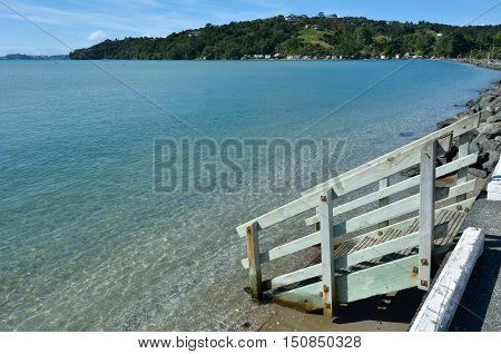 Landscape Of Sandspit Beach New Zealand
