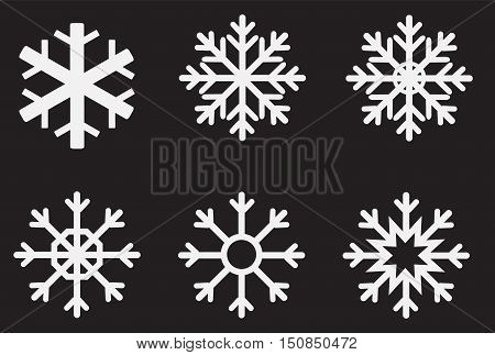 snowflake refrigerator. snowflake set for Christmas design.