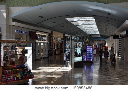 HURST, TX - SEP 19: North East Mall in Hurst, Texas, as seen on Sep 19, 2016. It is a super-regional enclosed mid to high end shopping mall.