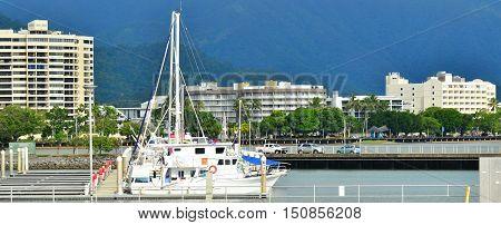 Yachts Mooring At Cairns Marlin Marina Queensland Australia